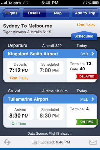 The FlightStatus iPhone App