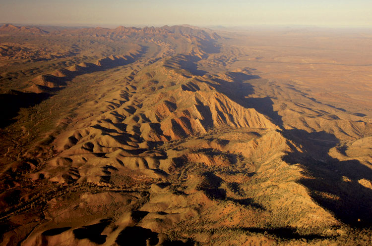 Looking south over the ABC Range in the Flinders Ranges.