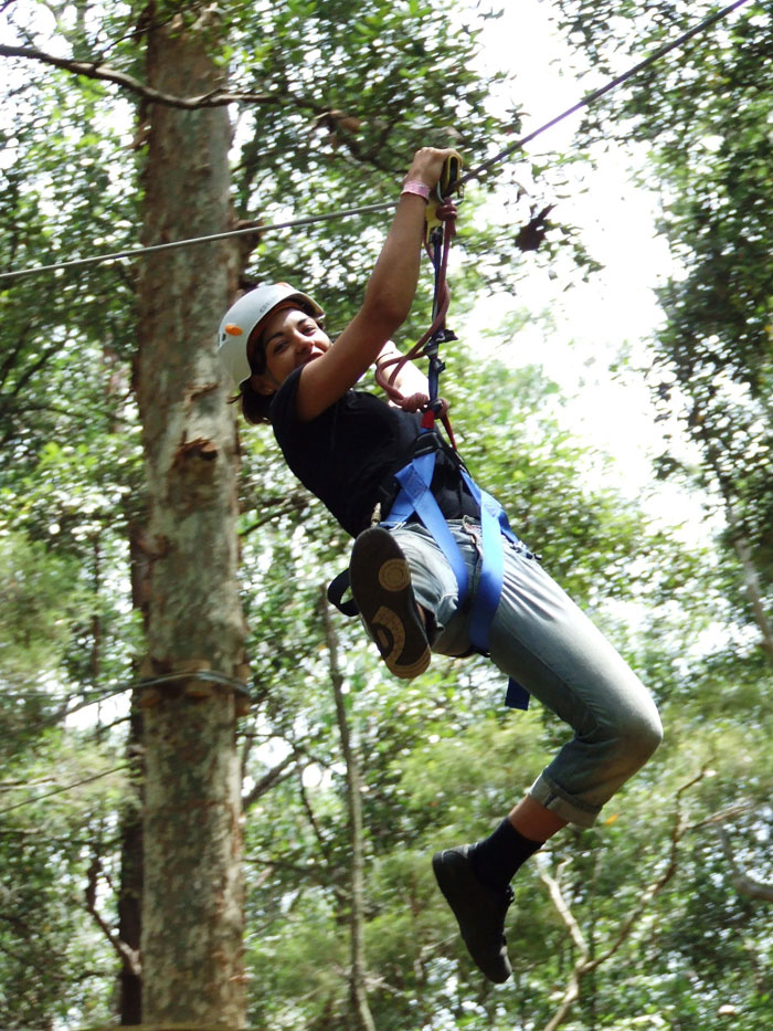 A flying fox (Image from TreeTop Adventure Park)