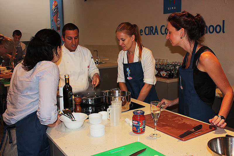 Luca's students need help when it comes to the second course - Ligurian mussel soup