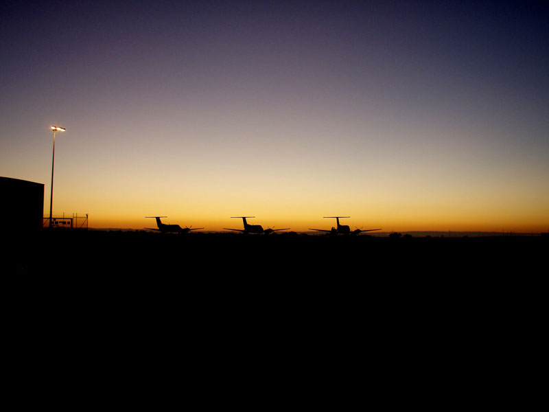 These photos were taken in the early morning at the Royal Flying Doctor base at Essendon. Image by Brett Manders