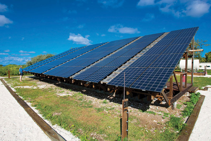 Solar Panels providing energy to the island image by Quinton Marais