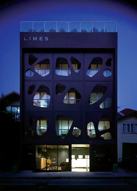 The Limes' funky facade