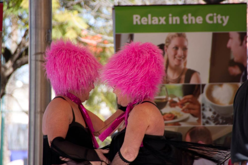 People With pink hair. You have to read the story. Sorry.