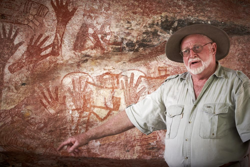Max Davidson showing rich Rock Art