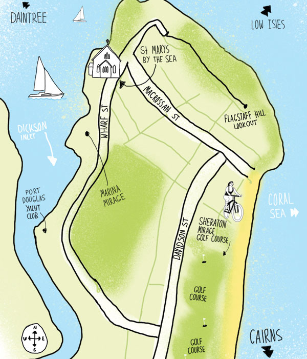 Port Douglas map by Adam James Turnbull