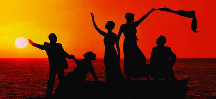 It's Opera but not as you know it as the sun set behind the performers on Cable Beach