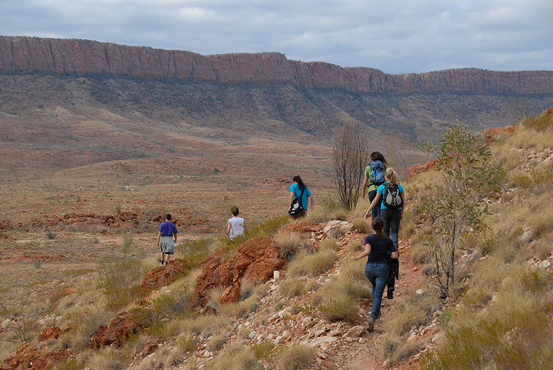 Hiking through Ormiston Gorge on our first day in the Outback. Photo by Matt Plant