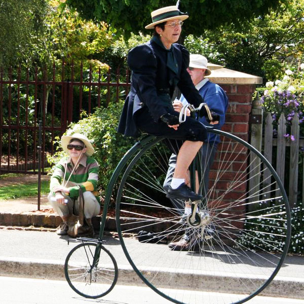 Evandale near Launceston hosts the Penny Farthing Championships of Australia in February each year