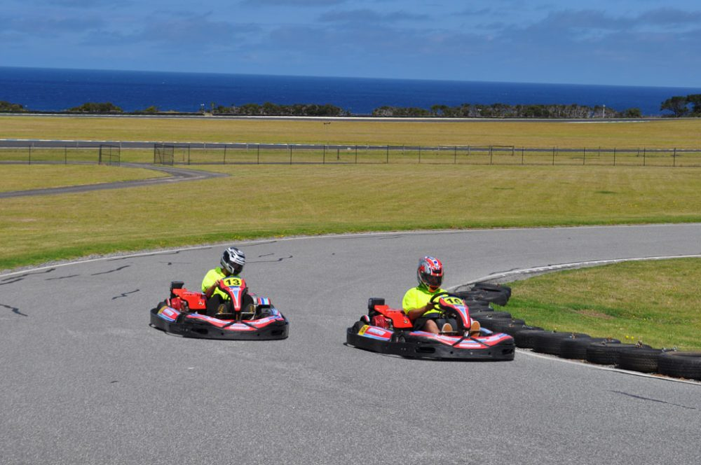 Go Kart hot laps on a mini replica of Phillip Island's grand prix circuits.