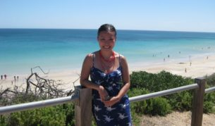 Masterchef runner-up Poh at Port Willunga, South Australia.