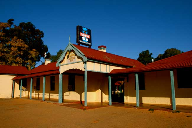 A typical Outback Pub, the Maidens Hotel in Menindee has a questionable past and  tons fo character