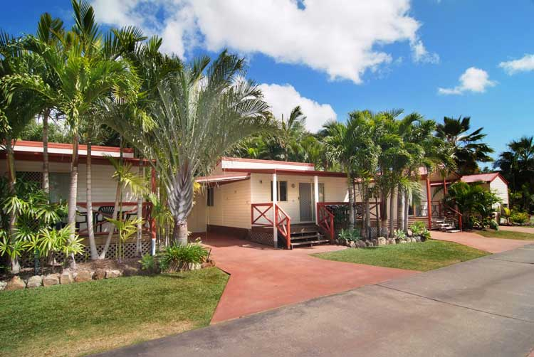 A row of villas at the Big4 Adventure Whitsunday Resort