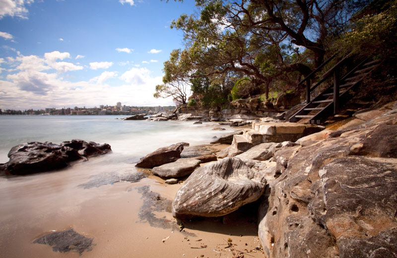 Reef Beach is a small but beautiful little spot facing Manly. It sits just east of Balgowlah Heights, but far enough in the middle of Sydney Harbour National Park, that it remains a modest gem.
