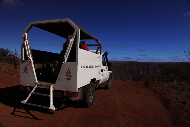 The Specially Adjusted 4WD for the Ridge Top Tour Arkaroola