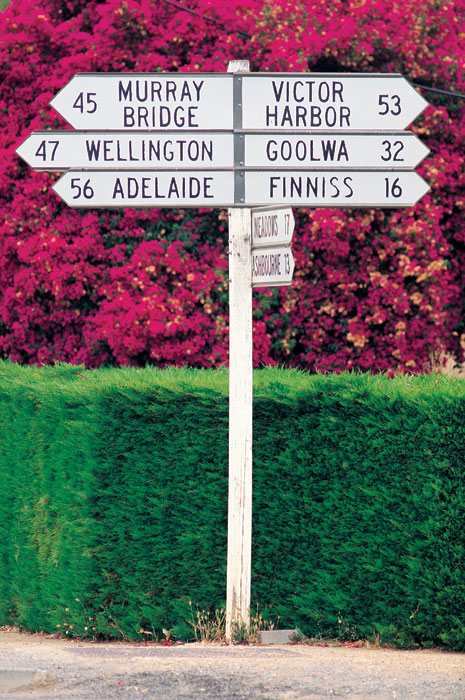 Follow the signs from pretty Strathalbyn yo anywhere in SA