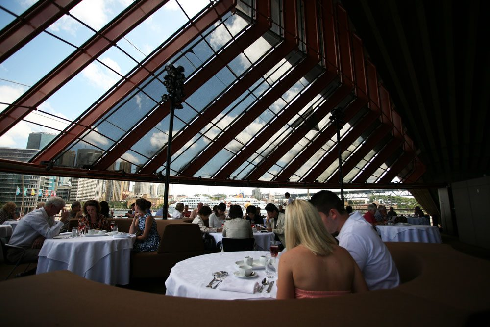 Almost every seat at every table has dramatic, sweeping views of Sydney Harbour