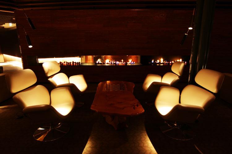 The Lounge becomes a cosy romantic retreat