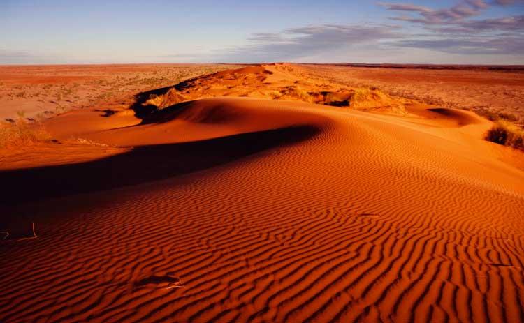 The famous dunes of the Simpson Desert, near Birdsville QLD