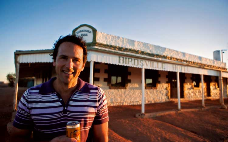 And then there are the famous Australian Outback pubs like Birdsville which has parking for planes.