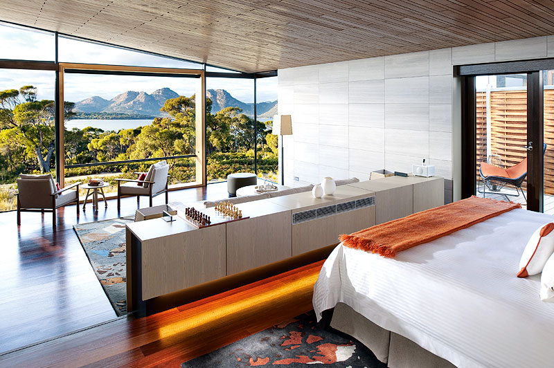 Saffire Freycinet's luxury suite.