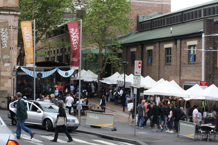 The Rocks Markets in the heart of the historical precinct