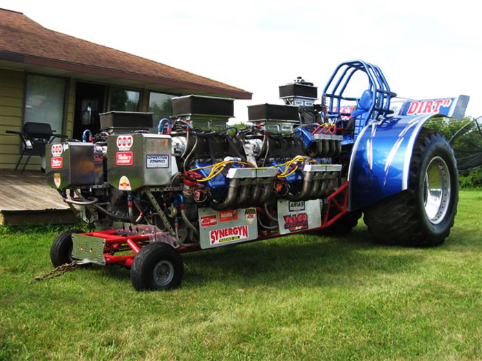 One of the 'modified' tractors for the tractor Quambatook Pulling Championships every April