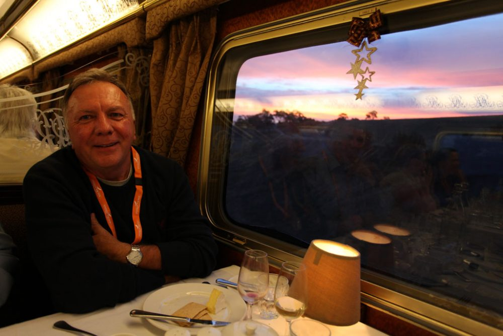 Dining inside the Train