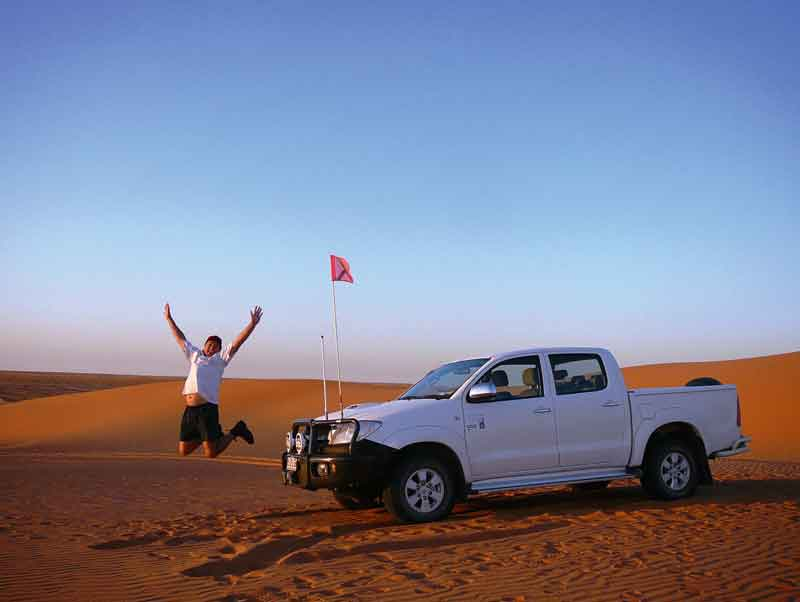 Experience the exhilaration of driving to the top of Big Red on the edge of the Simpson Desert