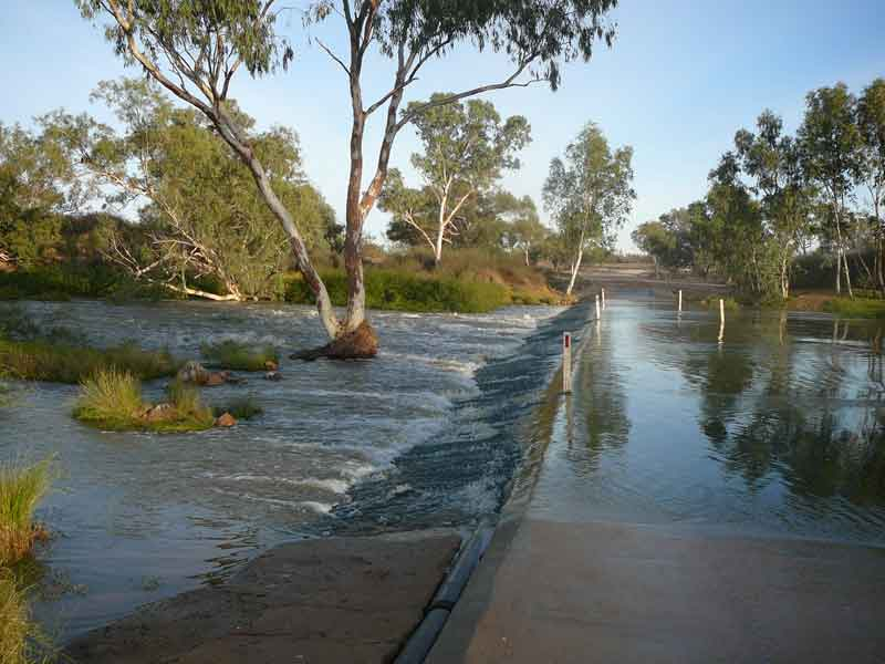 Cooper Creek Crossing at Innamincka