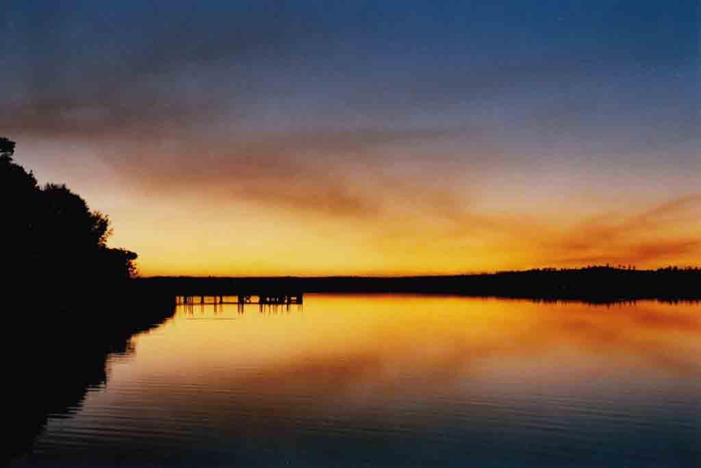 Sunset at Corringle Slips