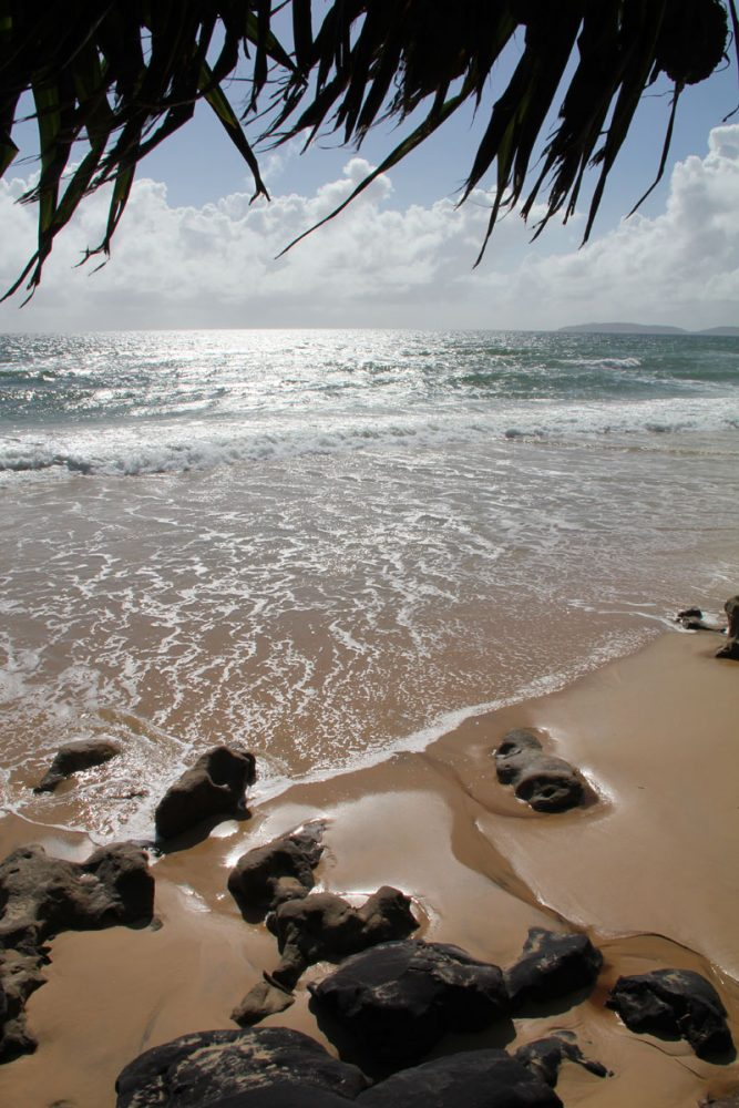 Tide Goes Out: Rainbow Beach, Queensland.