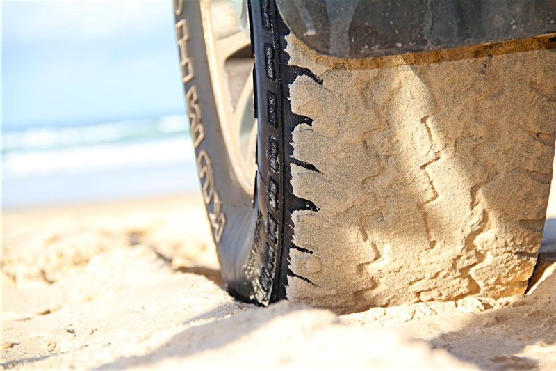 Sandy Wheel: Rainbow Beach, Queensland.
