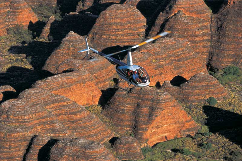 Or a private heli flight over the Kimberleys' Bungle Bungle ranges.