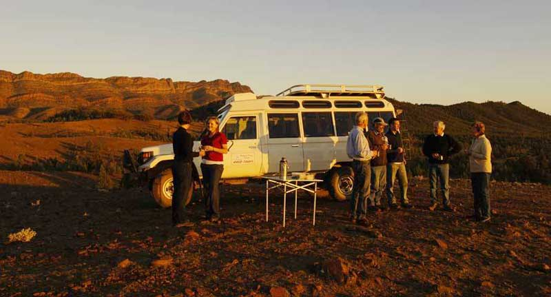 Afternoon tea and a 4WD tour are included.