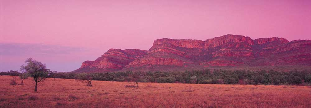 Wilpena Pound at sunset.