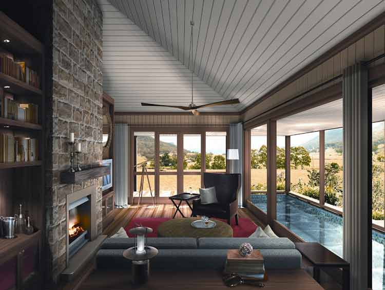 The highly anticipated Emirates Wolgan Valley Resort and Spa in the picturesque Wolgan Vally.