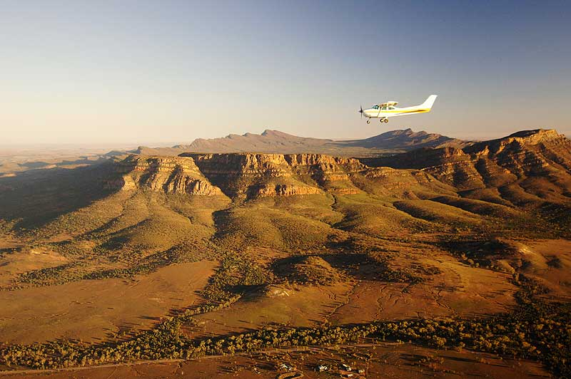 Part of the prize is a scenic flight over Wilpena Pound - there are 4 of these great packages to be won!