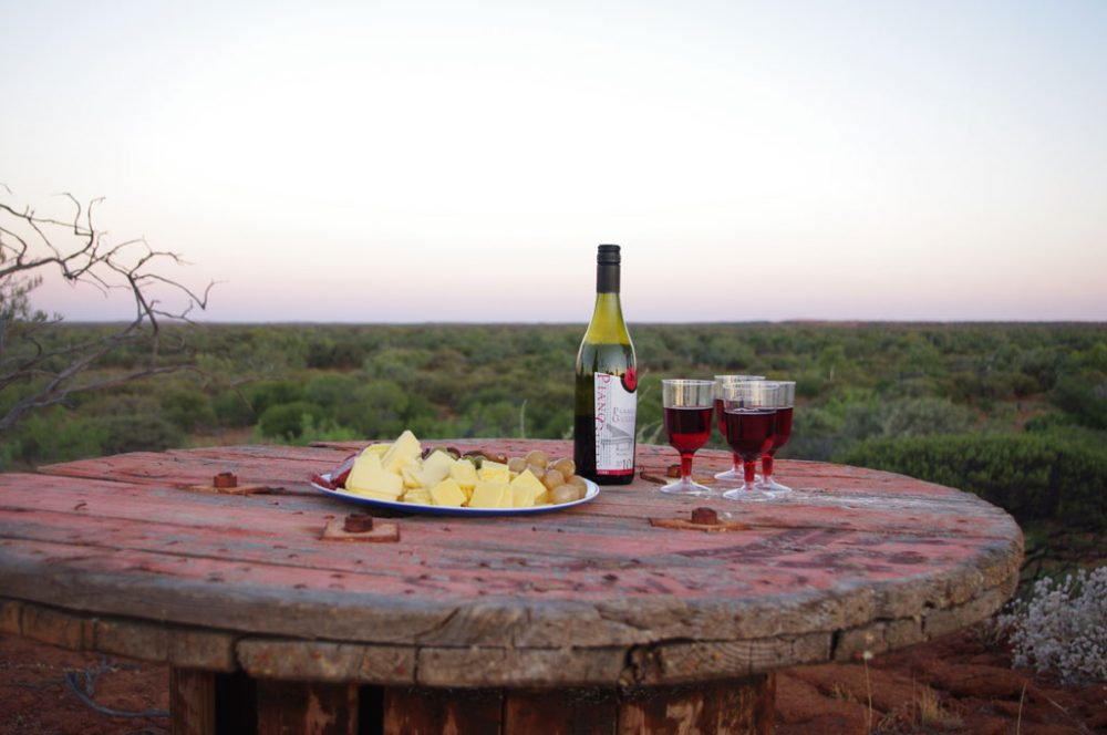 Wine and cheese with a view at Wooleen Station