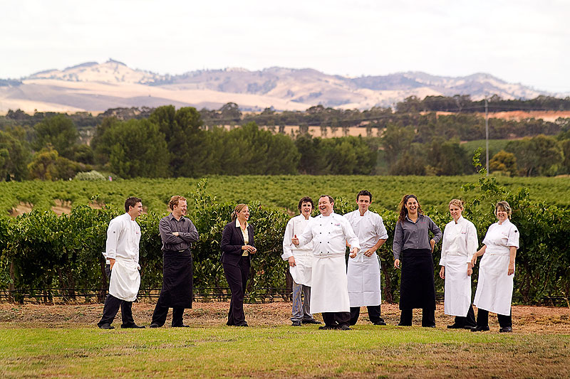 Executive chef and local celebrity Mark McNamara and the team at Appellation in the Barossa.