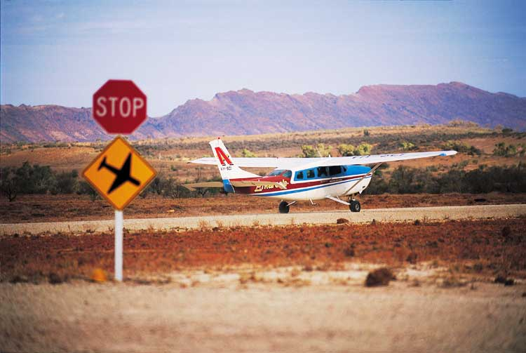 Light plane is the quickest way to cross the vast distances of the Australian Outback