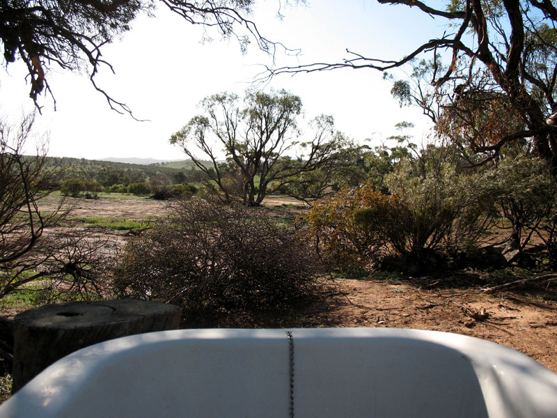 Bath's eye view of the rugged SA outback.