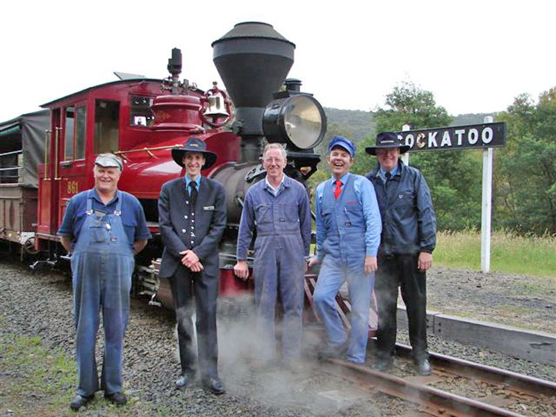 The Puffing Billy crew awaits their new drive . . . YOU!
