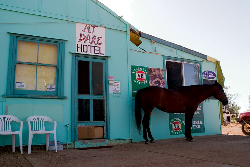 The only other customer at the Mount Dare Hotel. Image by Robyn Rosenfeldt