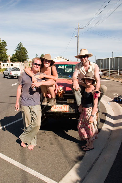 The travellin team at journey's end. Image by Robyn Rosenfeldt