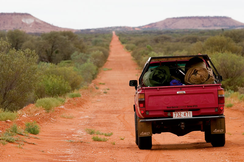 Packed up and ready to tackle the old Ghan. Image by Robyn Rosenfeldt