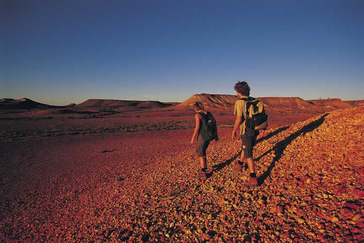 Some fo the most challenging and memorable ways to explore the Australian outback is on foot