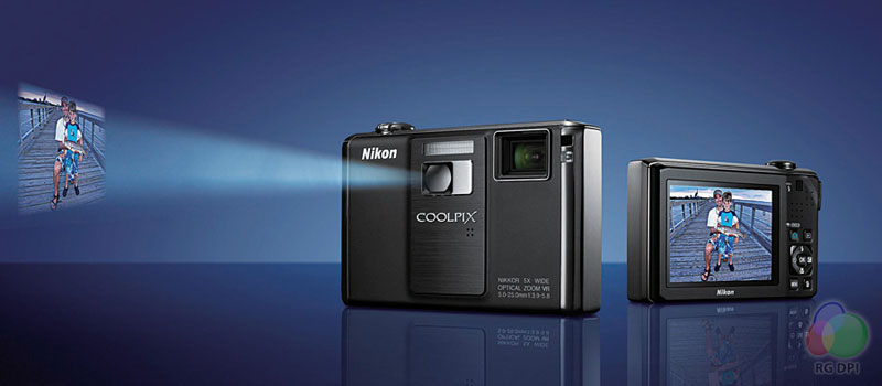 The first compact digital camera in the world with built-in projector, Nikon's Coolpix S1000pj is the latest way to get your images and movies seen.