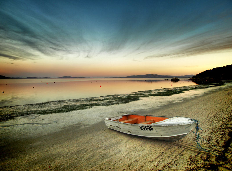 By Brendan Waites, A dinghy at Duck Point, Yanakie, Victoria. Yanakie is located pretty much at the entry gates to Wilson's Promentory National Park.