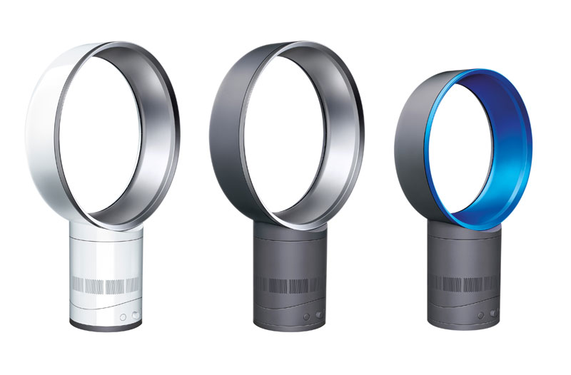 The Dyson Air Multiplier uses patented technology to multiply air 15 times,